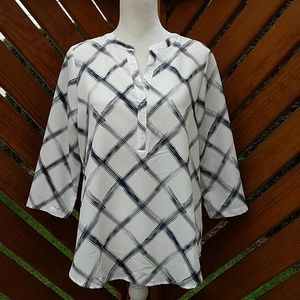 Christopher & Banks 3/4 Sleeve Tunic Size Small